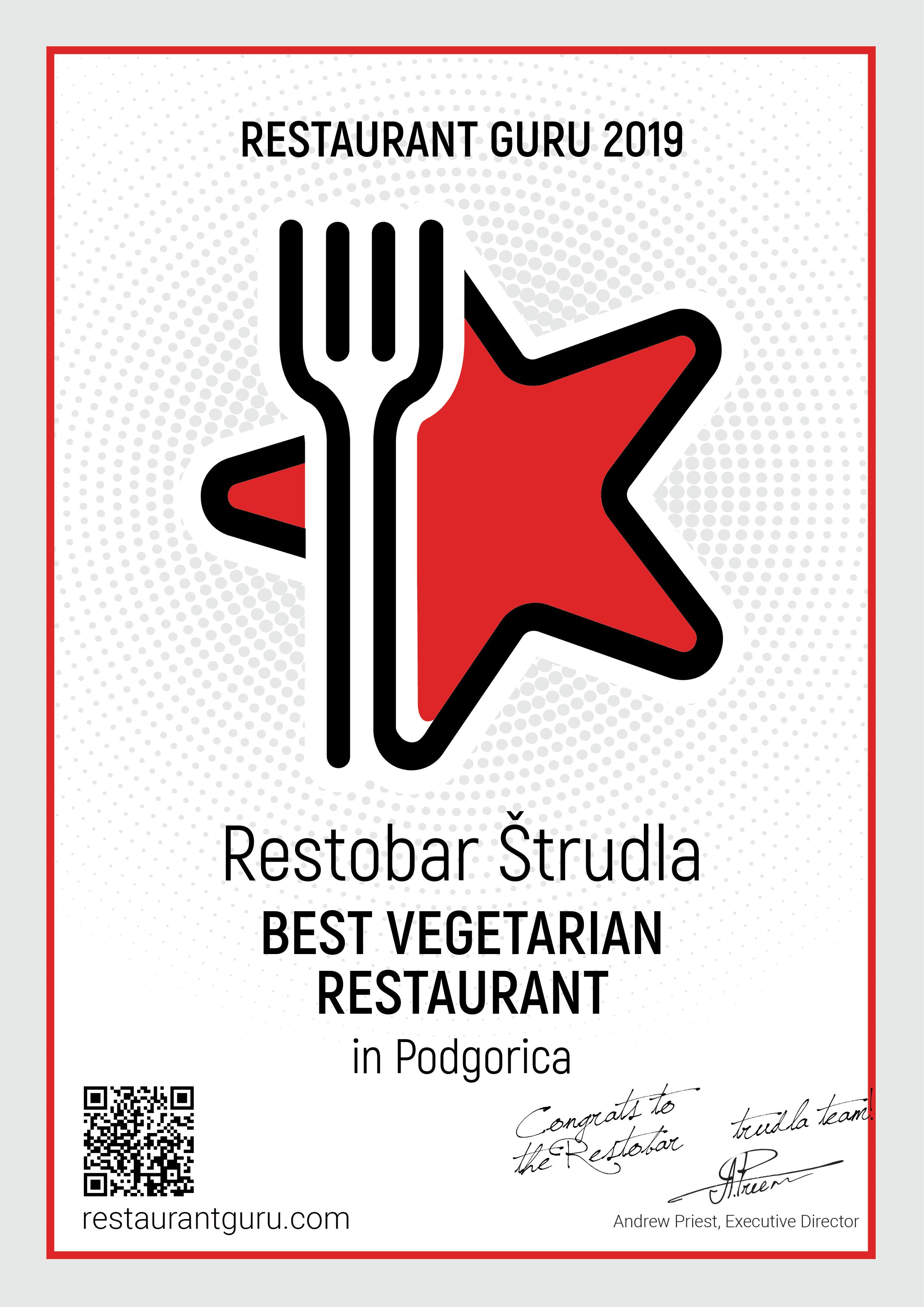 Restobar Štrudla, najbolji vegetarijanski restoran u Podgorici