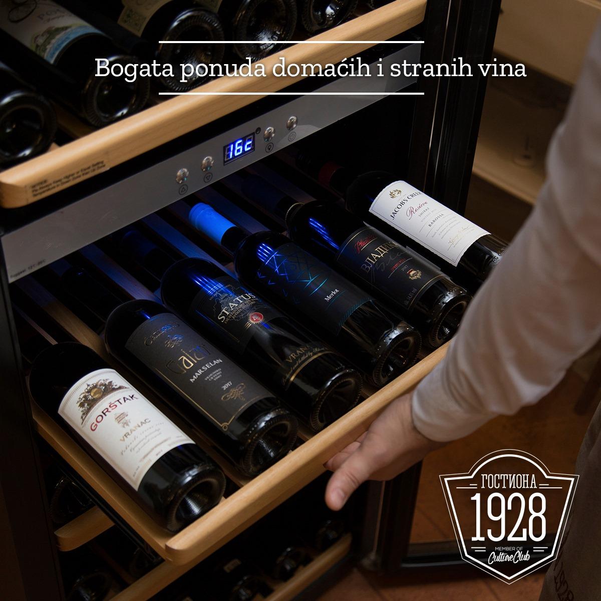 Bogata ponuda domaćih i stranih vina